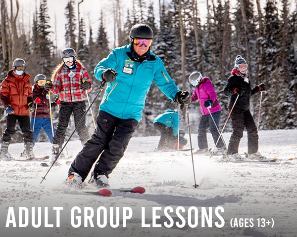 Adult Group Skiing & Snowboarding Lessons